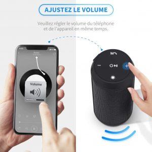 Enceinte Bluetooth Portable Lumineuse Haut-Parleur Bluetooth sans Fil